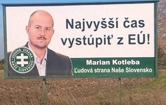 Foto:  Bilboardy s podobizňou Mariana Kotlebu postupne zahlcujú Slovensko